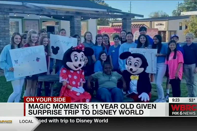 Magic Moments: 11-year-old given surprise trip to Disney World