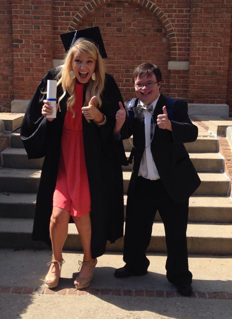 Lindy and Jordan (her brother) at her Samford graduation in 2014.