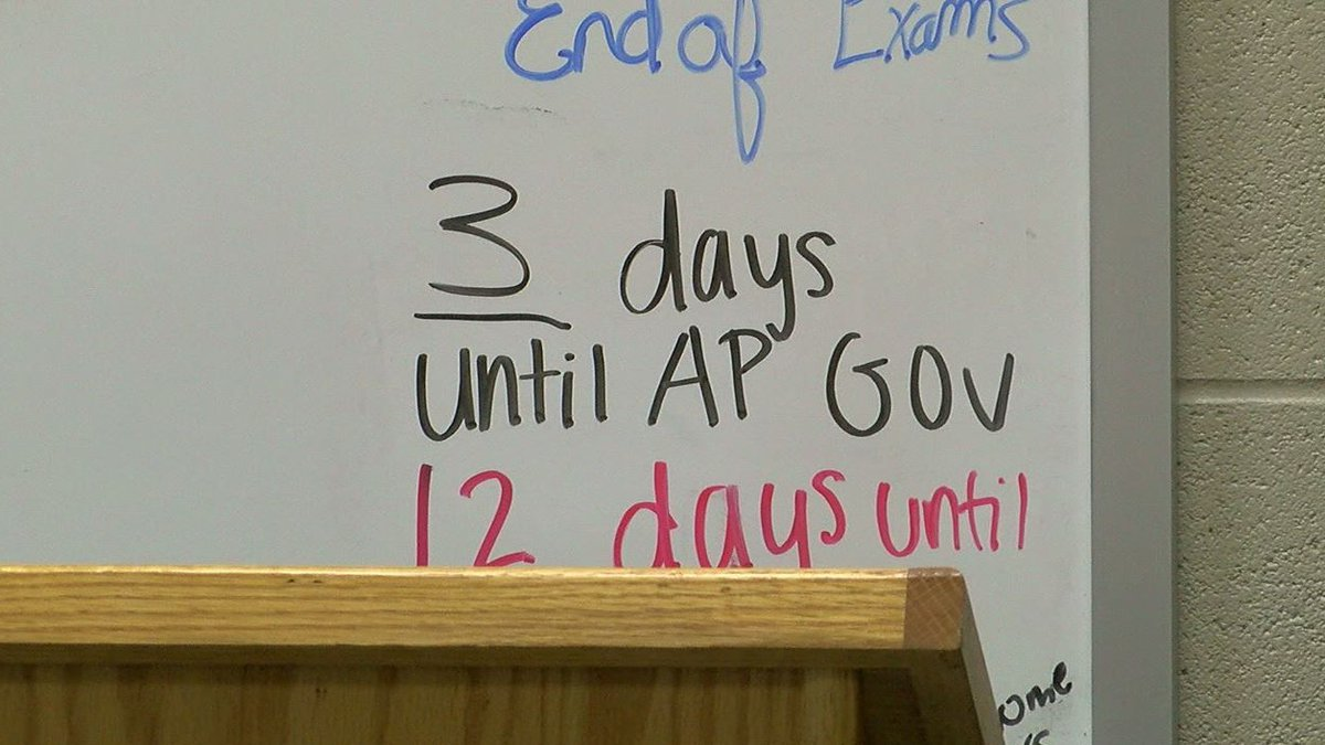 Advanced Placement exams. (Source: WBRC video)