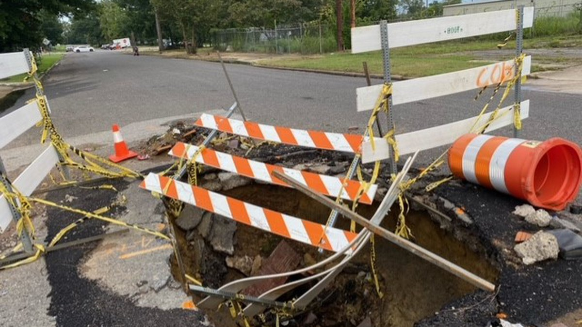 Sinkhole on 34th Ave N