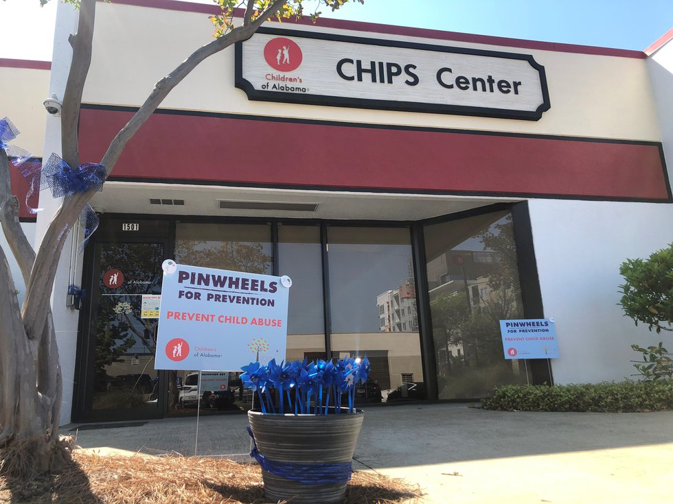 April is child abuse awareness month and blue pinwheels are a reminder to work to prevent child...