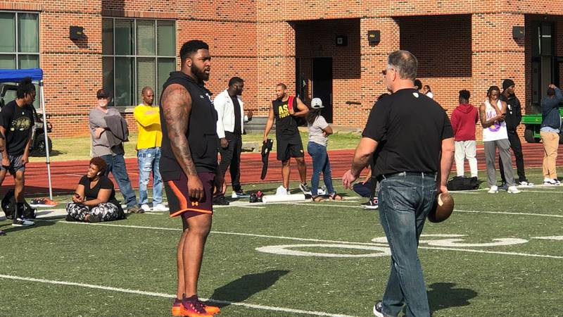 Tytus Howard was taken in the first round of the 2019 NFL Draft by the Houston Texans (23rd...