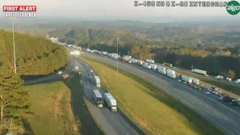 Major issues on I-20 in the Leeds area after a construction accident