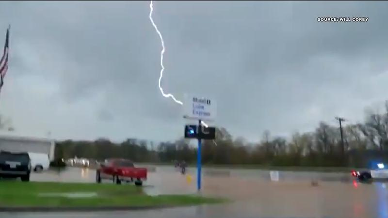 Lightning strikes a Florence Police officer