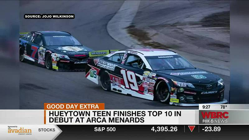 A teenager in Hueytown is now a top ten finisher in her first ARCA race.