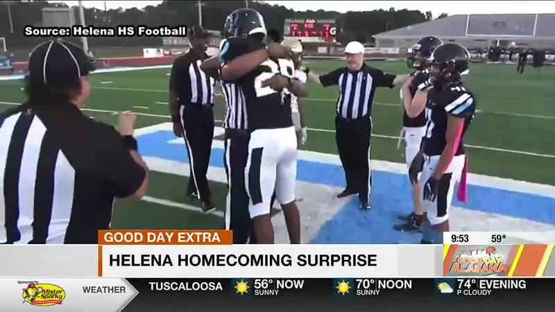 Helena homecoming surprise