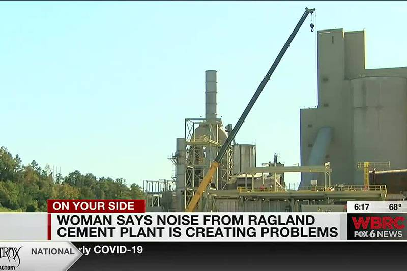 Woman says noise from Ragland cement plant is creating problems