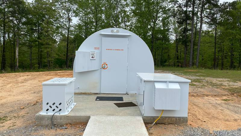 The New Convert Community in Chilton County dedicated its new storm shelter Friday.