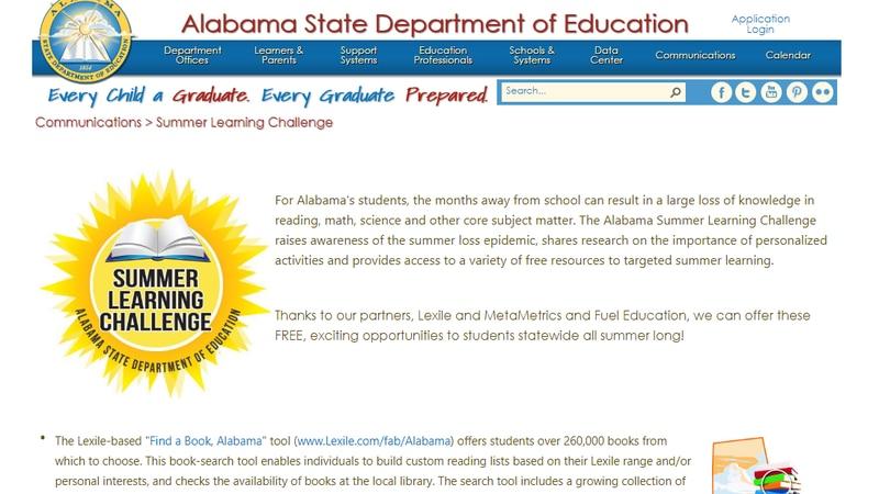 Alabama Summer Learning Challenge