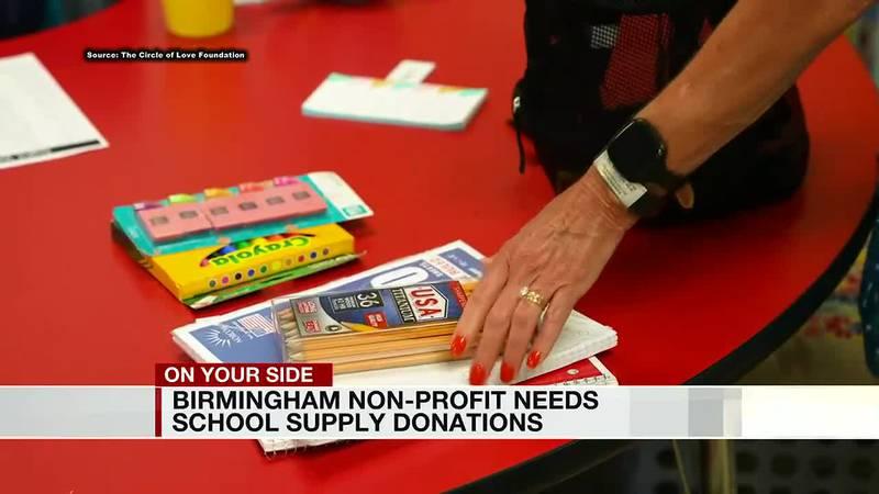 Birmingham non-profit needs school supply donations