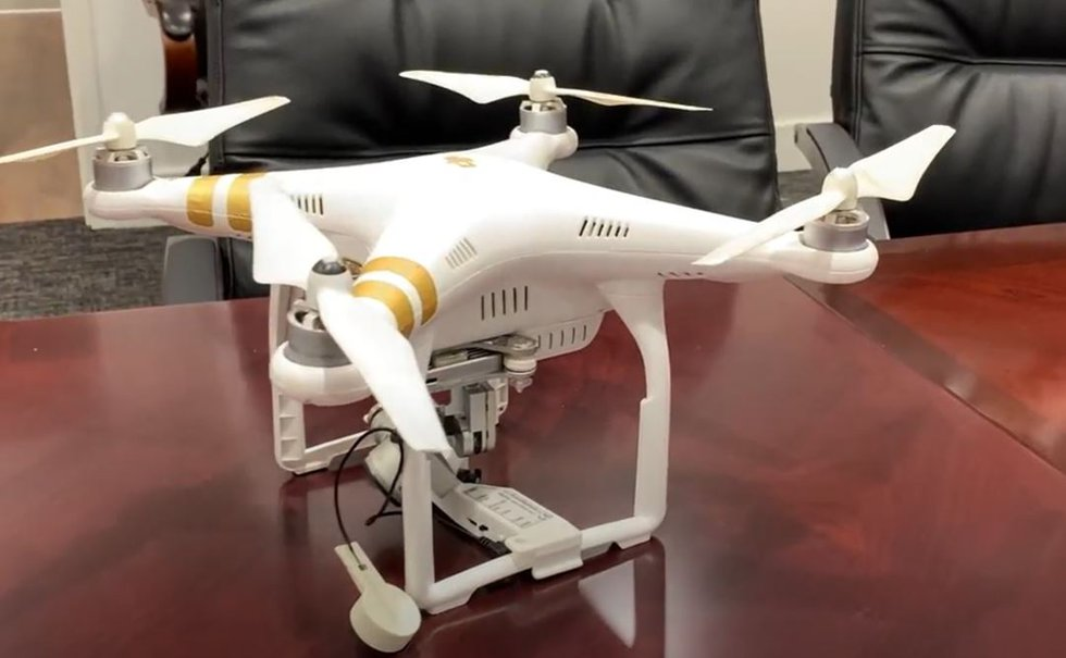 The drone that was confiscated by MDOC.