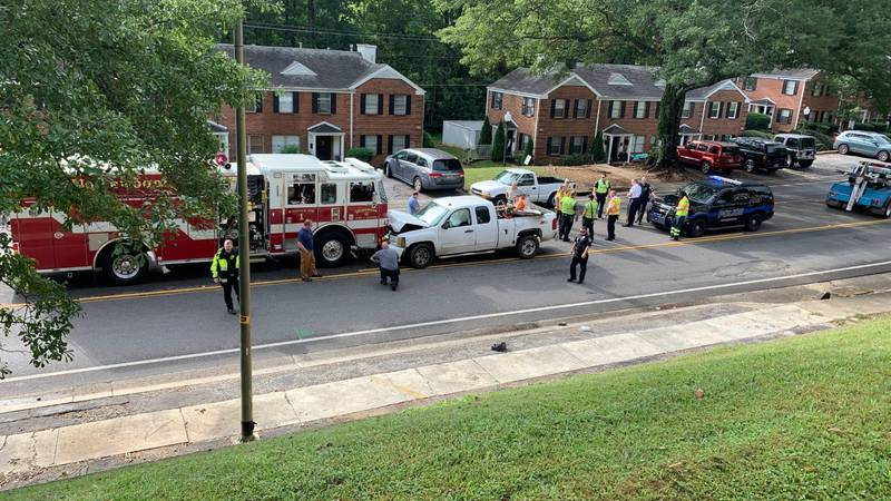 A Homewood firetruck  was involved in a head-on collision Wednesday morning.