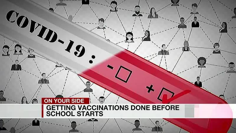 Vaccines before school starts