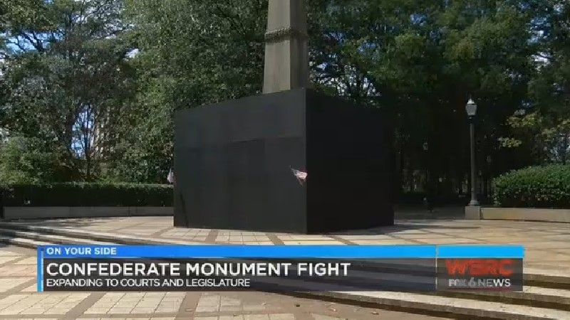 Jefferson County Judge Michael Graffeo ruled the city can cover the monument and preventing...