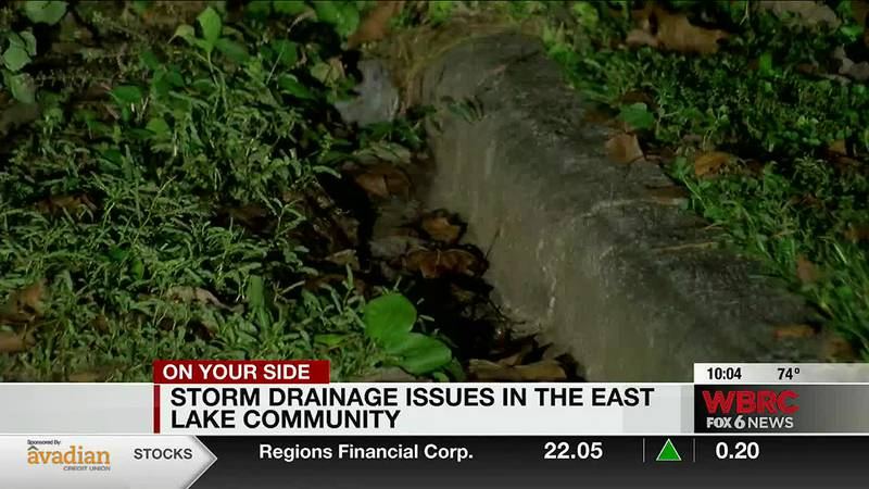 Storm drain issues