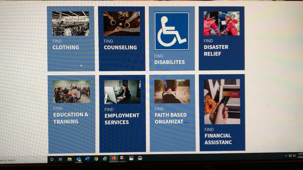 There are 17 categories on the website ranging from help with clothing, counseling, educational...