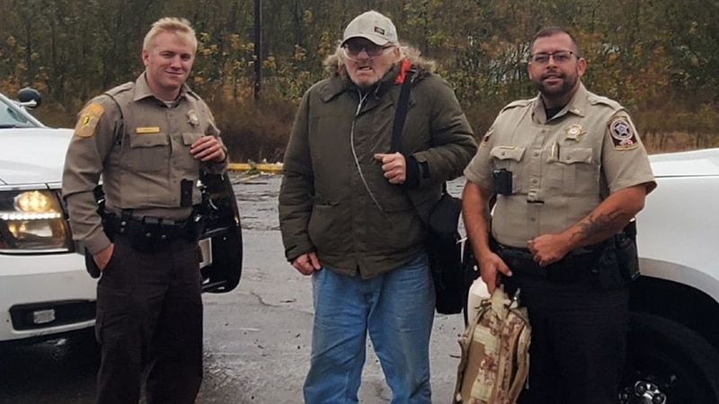 This photo shows Cullman County and Morgan County deputies with a disabled veteran they helped...