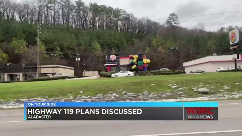 Highway 119 plans discussed in Alabaster