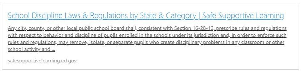 School Discipline Laws