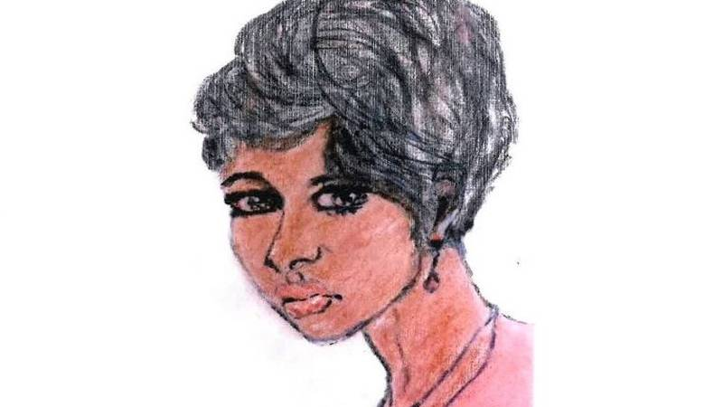 Confessed serial killer Samuel Little drew this picture of a woman he claims to have killed in...