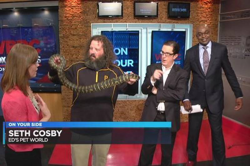 WBRC FOX6 News anchors get wild with Steve the Snake
