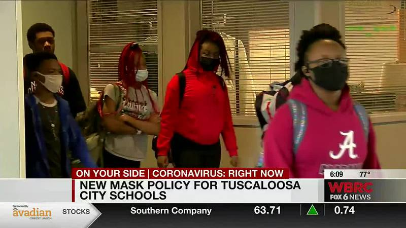 New mask policy for Tuscaloosa City Schools