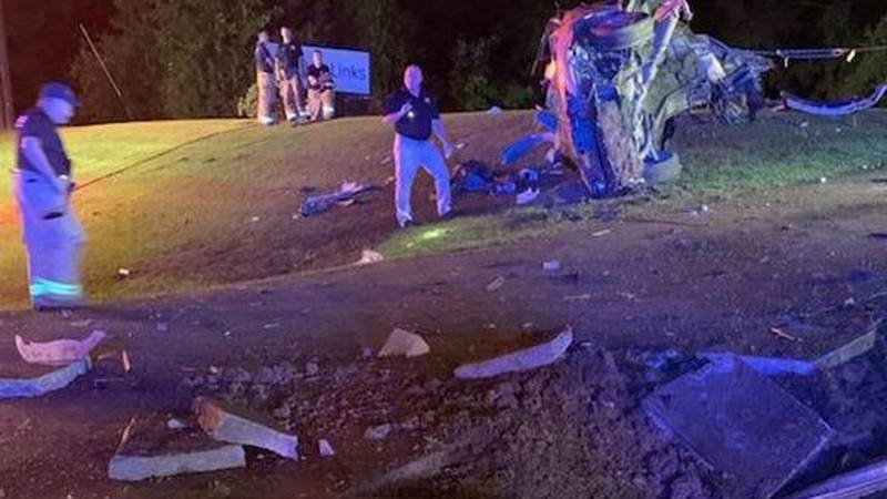 Two people are dead after traveling at a high rate of speed and crashing in Morgan County.