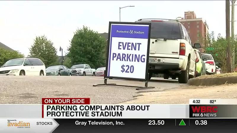 Parking complaints about Protective Stadium