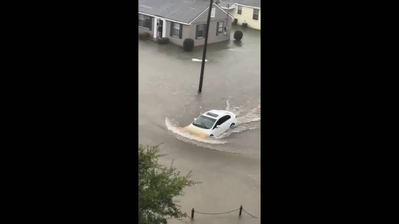 Some people were driving in floodwaters in Tuscaloosa SOURCE: William O'Neal
