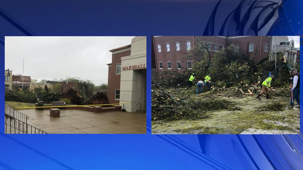 Storm damage at Marshall County Court House
