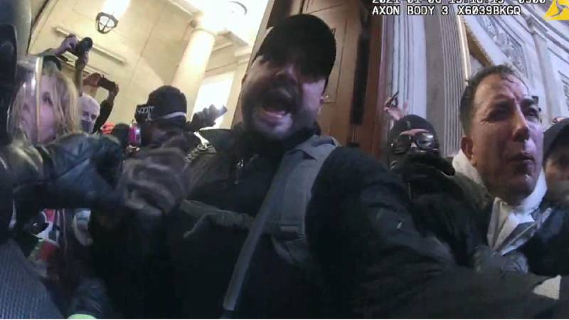 A Capitol officer's body camera footage of Joshua James