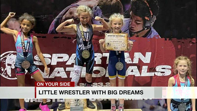 Little wrestler with big dreams