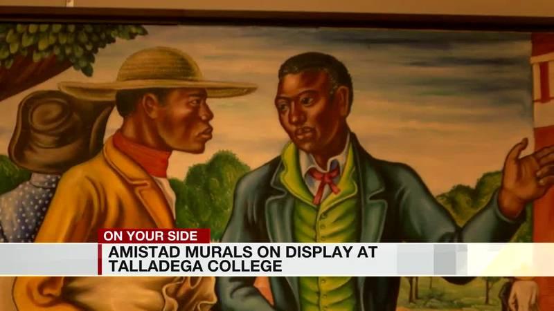 Amistad murals on display at Talladega College
