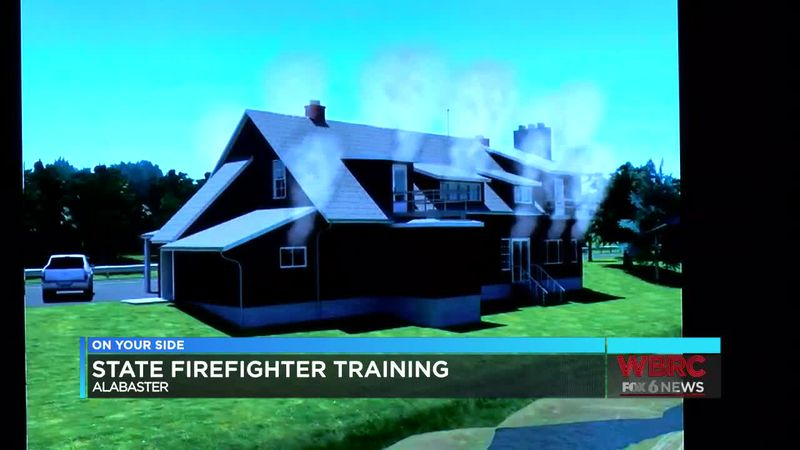 State firefighter training in Alabaster