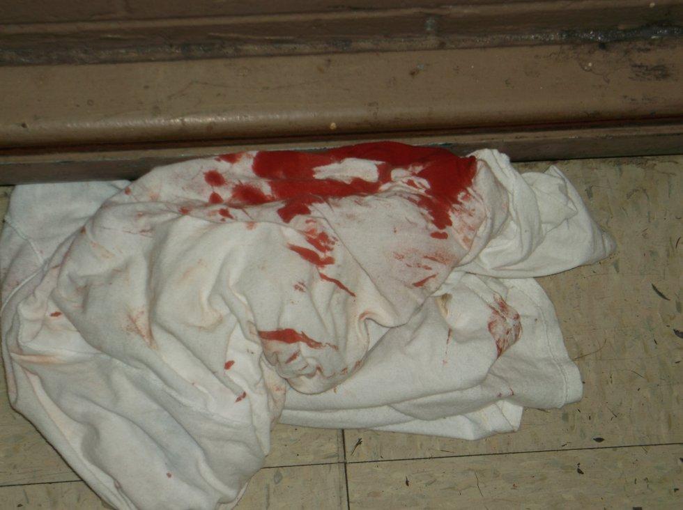A bloody prison uniform. (Photo sent to WBRC)