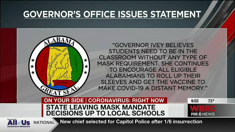 State leaving mask mandate decision up to local schools