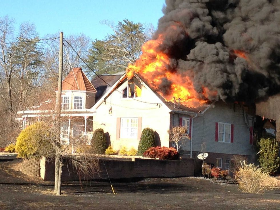 Everyone was able to escape this house fire on Sonny Lane in the Hickory Ridge community of...