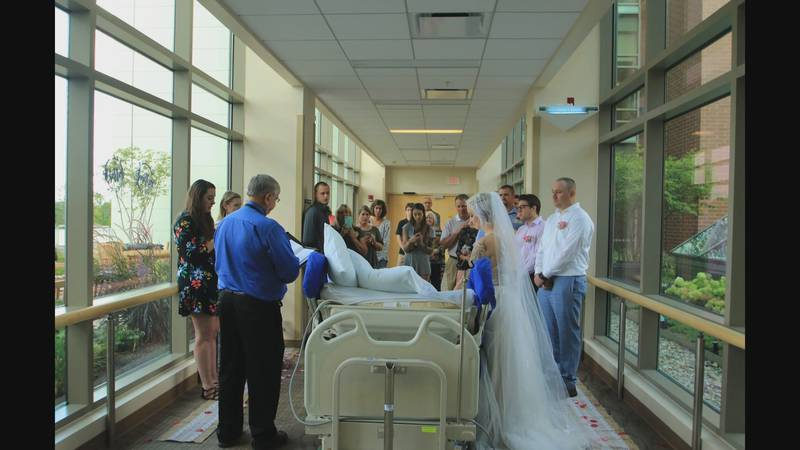 Kelsey and Travis were set to marry in October, but doctors said he wouldn't live that long.