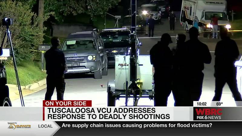 Tuscaloosa VCU addresses response to deadly shootings