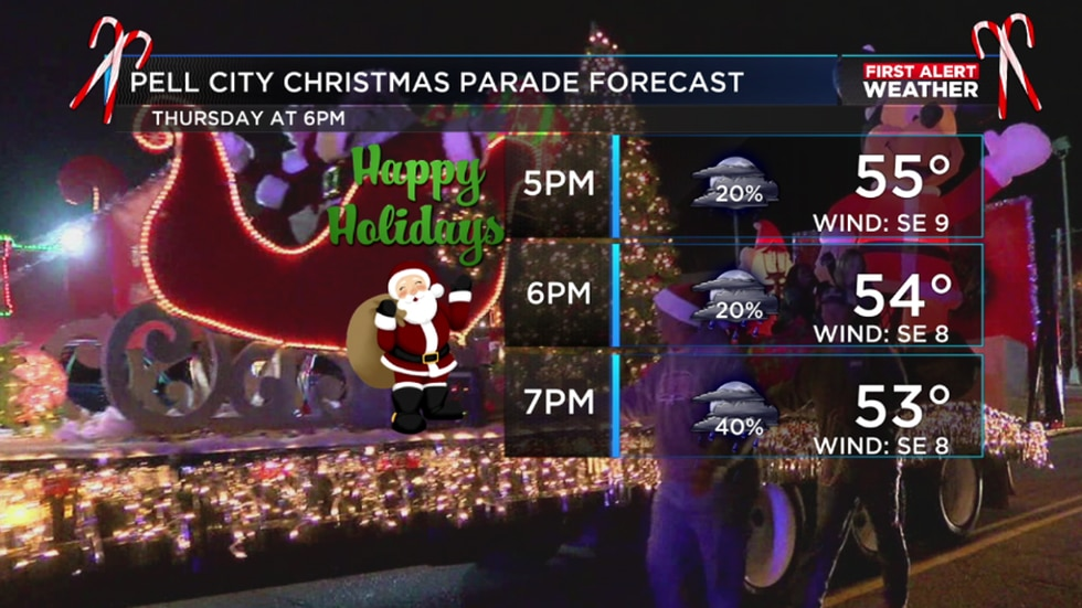 We'll stay mostly dry for the parade with temperatures in the 50s.