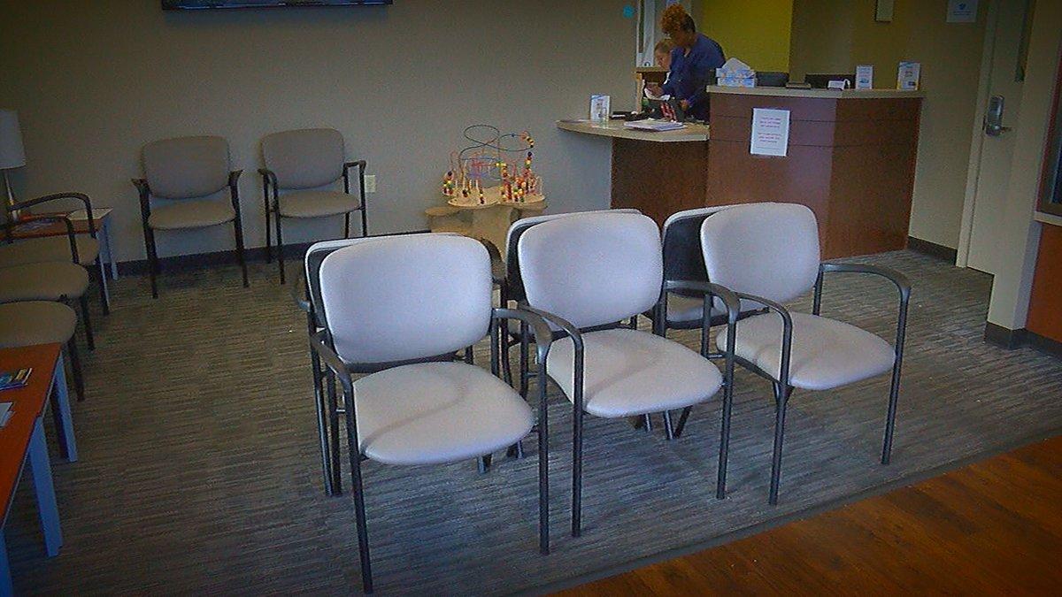 Main Street Family Urgent Care waiting room