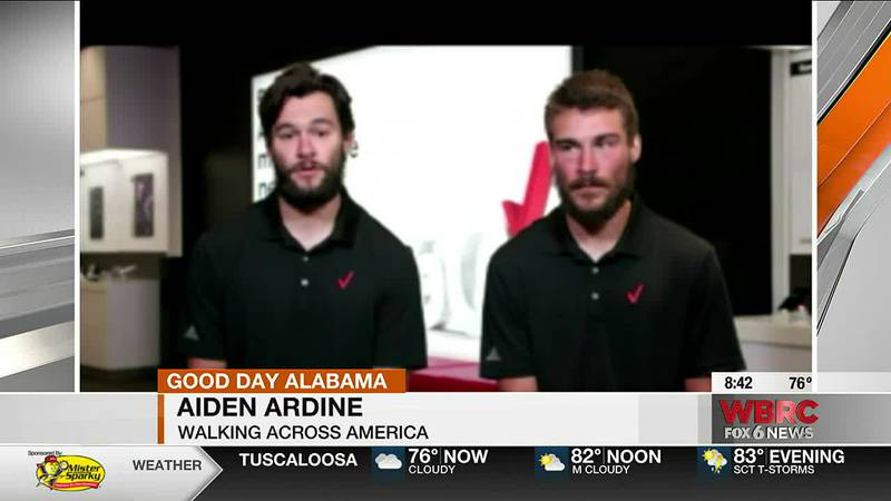 Two brothers are now walking across America in an effort to raise money for those who work in...