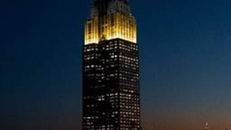 The Empire State Building will light up in the winning team's colors at the conclusion of the...