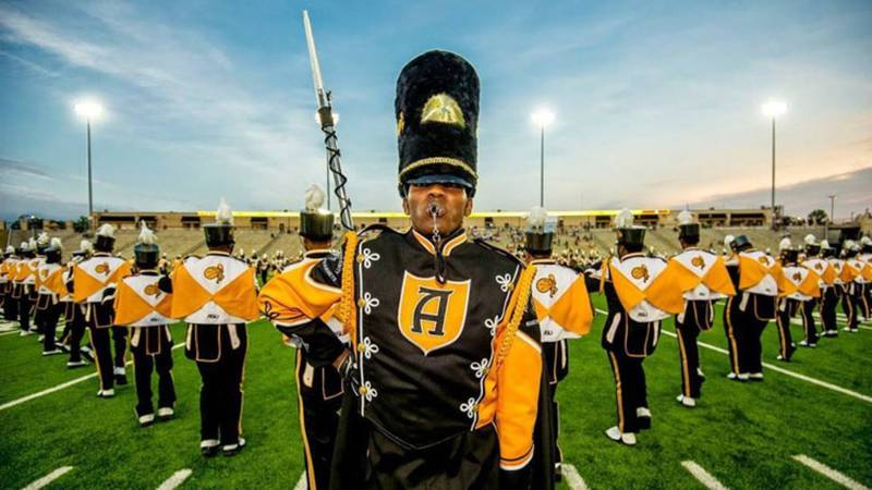 ASU's Mighty Marching Hornets Band will perform at halftime of the Atlanta Falcons vs. Los...