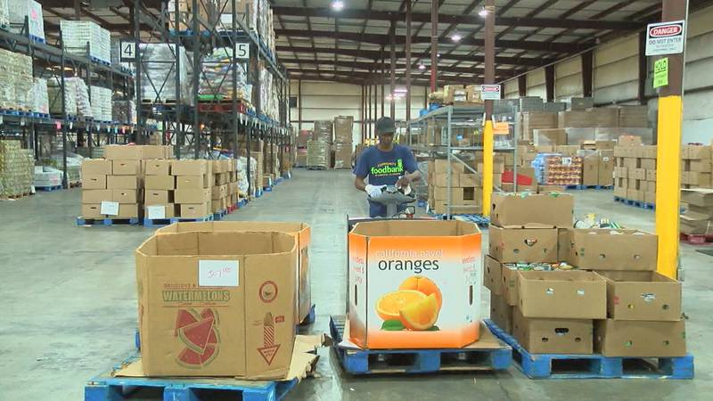 The Community Food Bank of Central Alabama has had record-number distributions over the past...