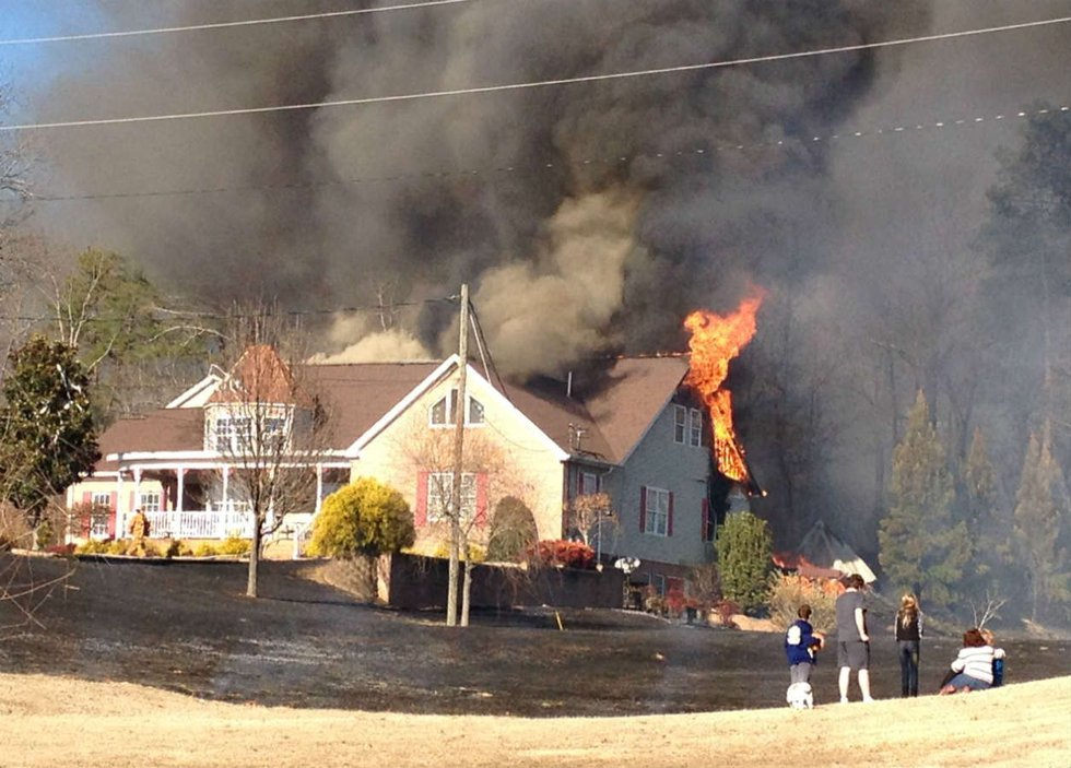 Homeowner Cheryl Crausewell says the house is a total loss. Source: Linda Spears