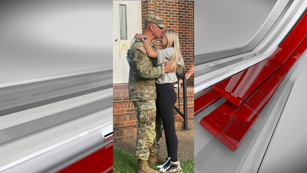 Military dad surprises daughter for her high school graduation