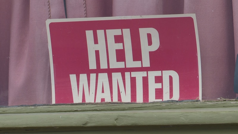 """""""Help wanted"""" sign at The Vierling"""