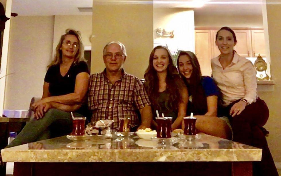 Gresa Sahatciu (far right) and family in Orlando
