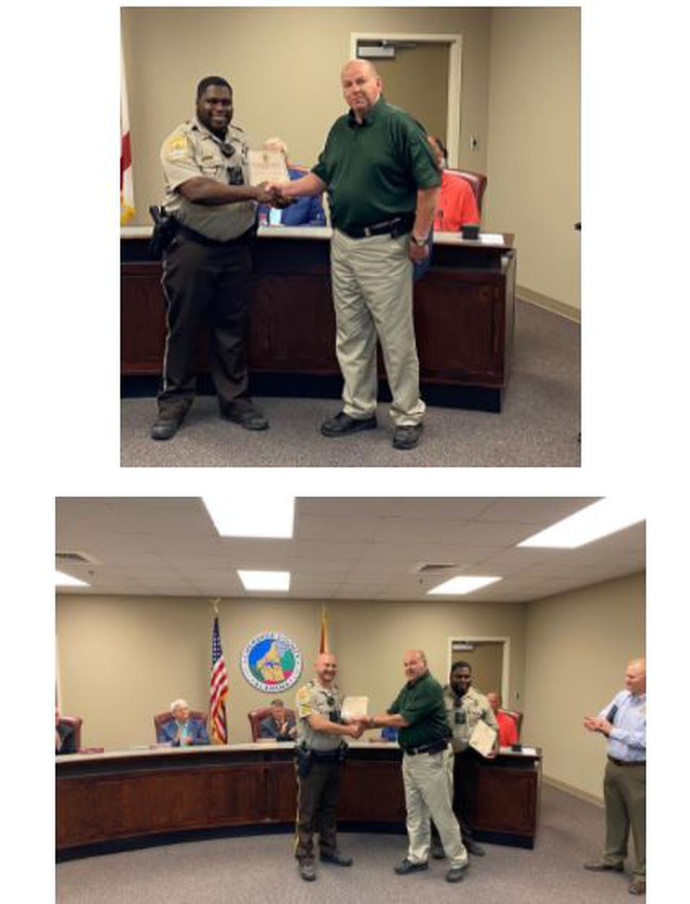 Corporal Kyle Newton and Deputy Logan Moore given Life Saver awards